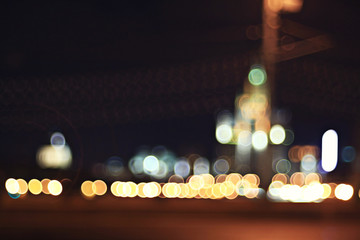 city ​​lights blurred abstract bokeh background