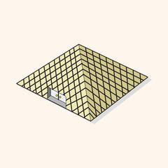 Louvre theme elements vector,eps