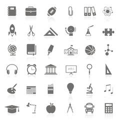 36 Iconos sobre educación FB reflejo