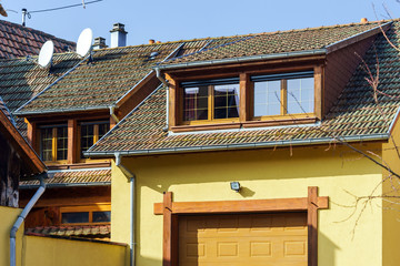 Traditional alsace country house, spring day