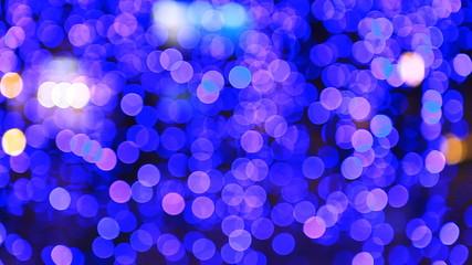 beautiful round bokeh of night flashing light at party, romantic