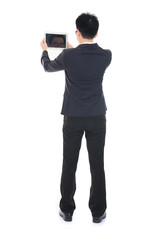 asian business male with tablet