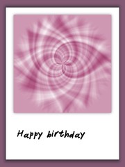 Happy Birthday card in scrapbook style