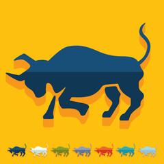 Flat design. bull