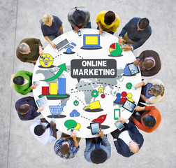 Online Marketing Advertisement Commercial Concept
