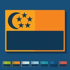 Flat design. singapore flag