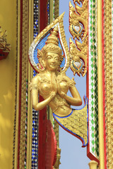 Angel statue in thai golden temple