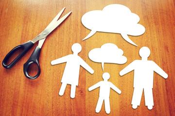 Different mindset. Concept of conflict between generations