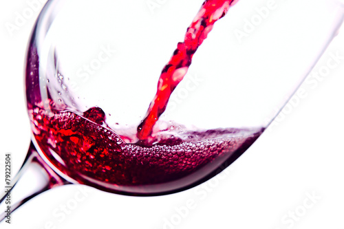 Papiers peints Vin Red wine on white background