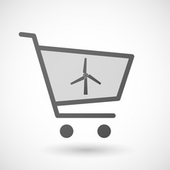 Shopping cart icon with a wind generator