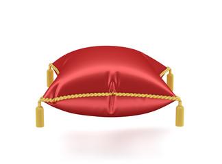 Royal red velvet pillow isolated