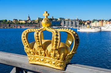 Golden crown. Stockholm, Sweden
