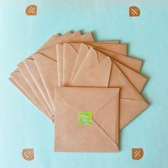 For you envelopes handmade of kraft paper