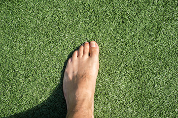walking on the grass