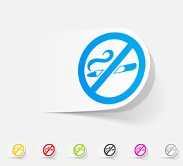 realistic design element. no smoking