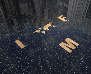 Sign IMF and map of the world