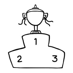 trophy and podium