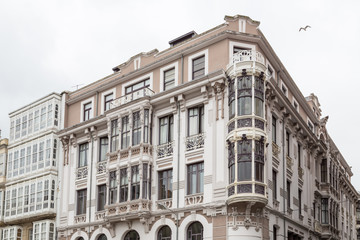 buildings in Ferrol, Galicia, Spain