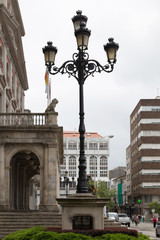 lamppost in the city
