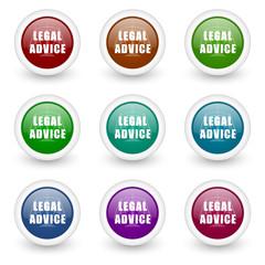 advice vector icon set