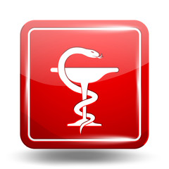 Medical Icon. Emergency Symbol. Red Set