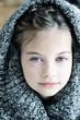 Girl in Hooded Sweater