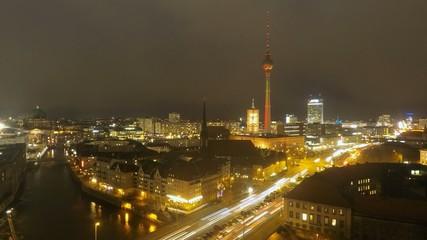 berlin night timelapse hyperlapse