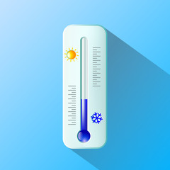 thermometer. Flat design