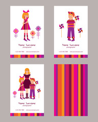 Business cards for children photographer.
