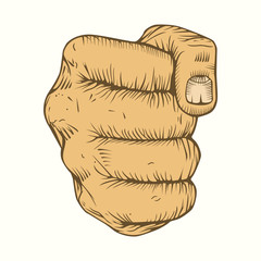 Illustration of fist.