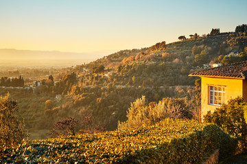 Fiesole near Florence, Tuscany Italy.