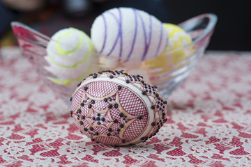 Traditional wax painted Easter egg