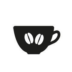 The coffee and cup icon. Coffee And Cup symbol
