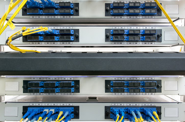 Fiber optic on core network switch