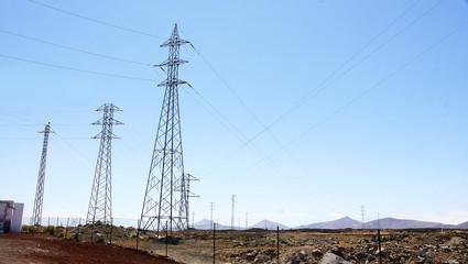 Torres de la red eléctrica de Arrecife, Lanzarote