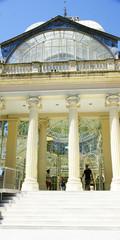 Columnas de la entrada al Palacio de Cristal del Retiro, Madrid
