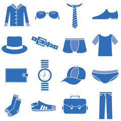 clothes icons man