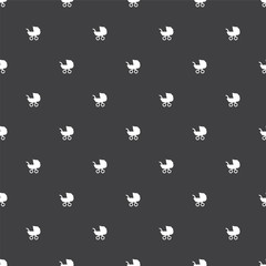 buggy, vector seamless pattern .