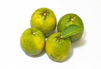 Citrus sinensis orange on basket