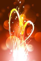 hot heart valentine dark background