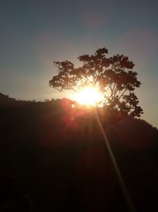 sun up at nakonsawan in thailand