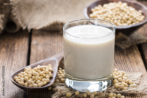 Aluminium Zuivelproducten Glass with Soy Milk