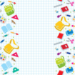 Design template with education supplies