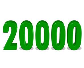 yeşil renkli 20000 sayısı