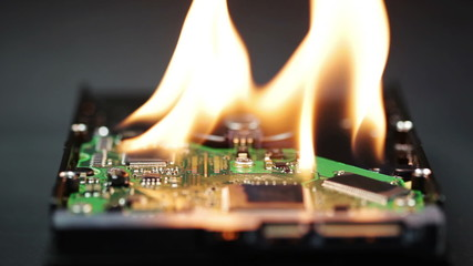 Setting a hard disk on fire