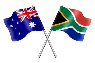 Flags: Australia and South Africa