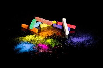 Мел разноцветный