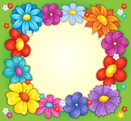 Frame with flower theme 2
