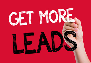 Get More Leads written on the wipe board
