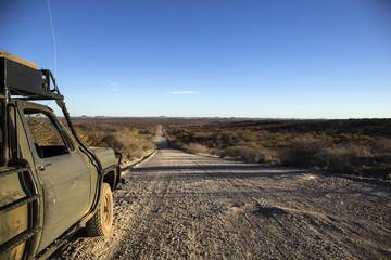 Strada sterrata in Namibia